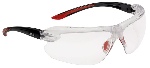 Bolle IRI-s Safety Glasses with Black Temples and Clear Anti-Fog Lens