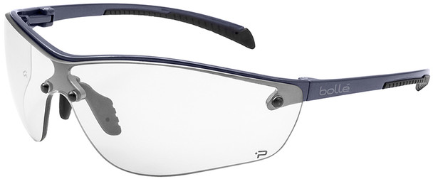 Bolle Silium Plus Safety Glasses Graphite Colored Frame Clear Anti-Fog Lens 40237