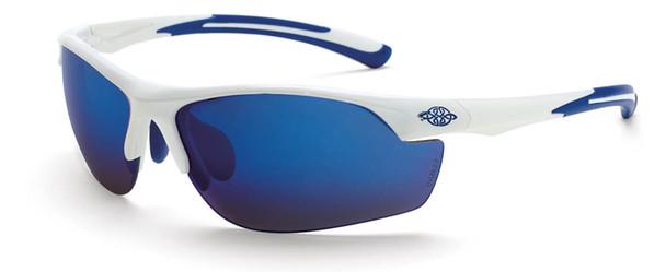 Crossfire AR3 Safety Glasses White Frame Full Blue Mirror Lens 16278