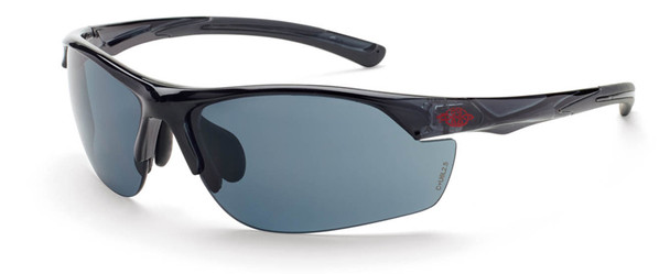 Crossfire AR3 Safety Glasses Crystal Black Frame Smoke Lens 16428