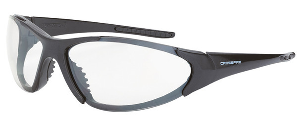 Crossfire Core Safety Glasses with Shiny Pearl Gray Frame and Clear Anti-Fog Lens