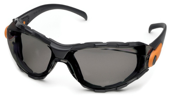 Elvex Go-Specs Safety Glasses with Black Frame, Foam Seal and Gray Anti-Fog Lens GG-40GAF