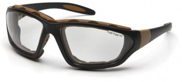 Carhartt Carthage Safety Glasses/Goggles with Black Frame and Clear Anti-Fog Lens