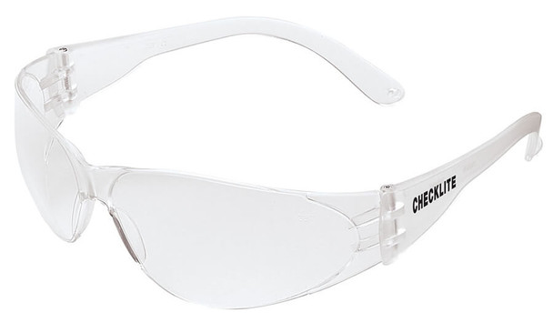 Crews Checklite Safety Glasses with Clear Anti-Fog Lens