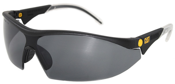 CAT Digger Safety Glasses with Black Frame and Smoke Lens