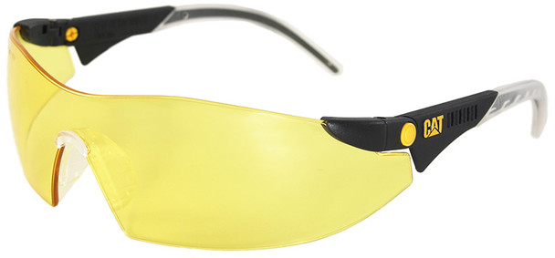 CAT Dozer Safety Glasses with Black Frame and Yellow Lens