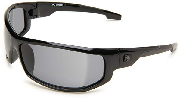 Bobster AXL Motorcycle Sunglasses with Black Frame and Smoke Anti-Fog Lenses