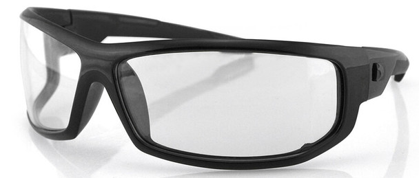 Bobster AXL Glasses with Black Frame and Clear Anti-Fog Lenses