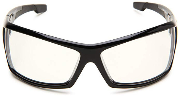 Bobster AXL Motorcycle Glasses with Black Frame and Clear Anti-Fog Lenses Front View