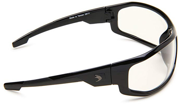 Bobster AXL Motorcycle Glasses with Black Frame and Clear Anti-Fog Lenses Right Side View