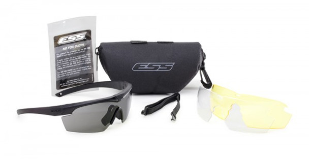 ESS Crosshair 3LS Kit with Black Frame and Clear, Smoke and HD Yellow Lenses