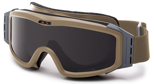 ESS Profile NVG Goggles Terrain Tan with Clear and Gray Lenses and Stealth Sleeve