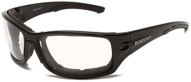 Bobster Rukus Motorcycle Sunglasses with Black Frame and Anti-Fog Photochromic Lens