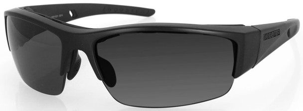 Bobster Ryval 2 Safety Sunglasses with Matte Black Frame and Smoke Anti-Fog Lenses