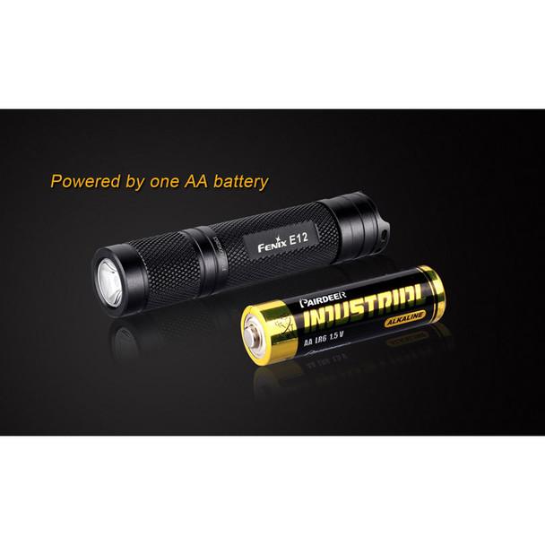 Fenix E12 LED Flashlight w/ Battery