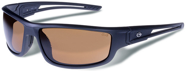 Gargoyles Squall Safety Sunglasses with Matte Graphite Metallic Frame and Brown Lens