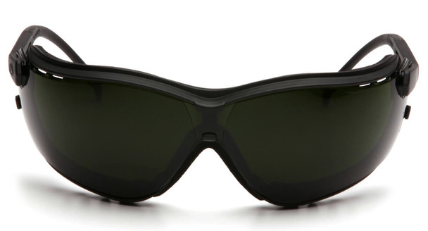 Pyramex V2G Safety Glasses/Goggles with Black Frame and Shade 5 Lens - Front