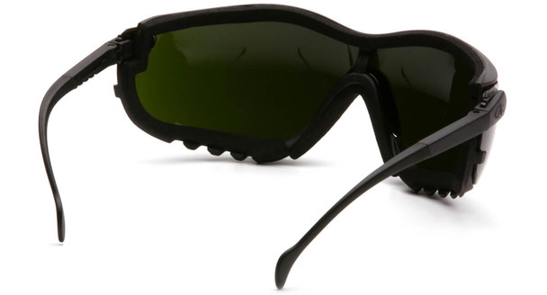 Pyramex V2G Safety Glasses/Goggles with Black Frame and Shade 5 Lens - Back