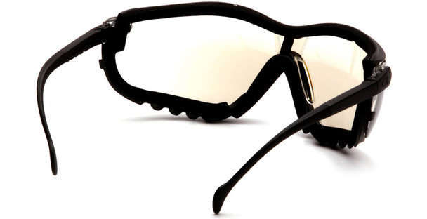 Pyramex V2G Safety Glasses/Goggles with Black Frame and Indoor/Outdoor Anti-Fog Lens - Back
