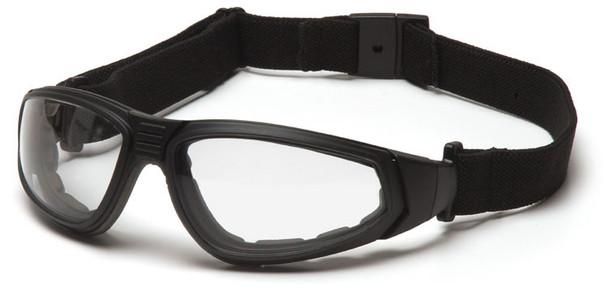 Pyramex XSG Goggle Black Frame Clear Anti-Fog Lens with Strap GB4010ST