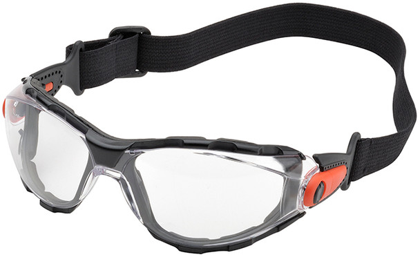 Elvex Go-Specs Safety Goggles with Black Frame, Foam Seal and Clear Anti-Fog Lens