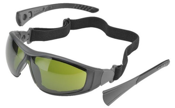 Elvex Go-Specs II Safety Glasses/Goggles with Black Frame, Foam Seal and IR3 Anti-Fog Lens GG-45WS3-AF