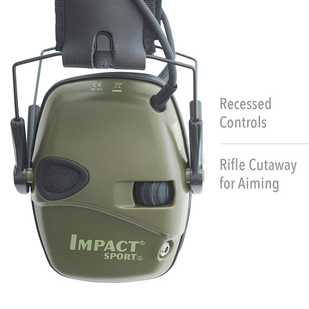 Howard Leight Impact Sport Easy To Use Controls