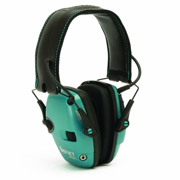 Howard Leight Impact Sport Sound Amplification Electronic Earmuff, Teal - R-02521