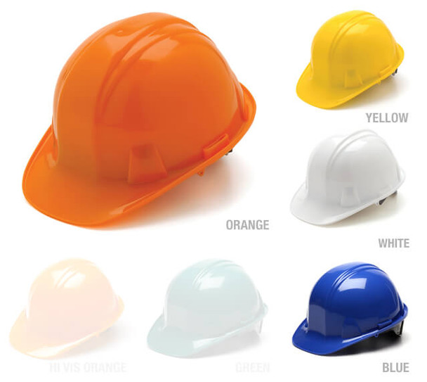 Pyramex Cap Style Hard Hat with 6-Point Ratchet Suspension