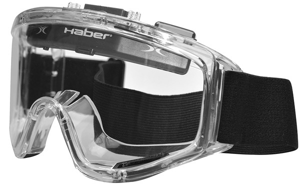 Haber Liquidator Splash Goggle with Single Clear Lens and Eliminator PLUS Fan HS-12141