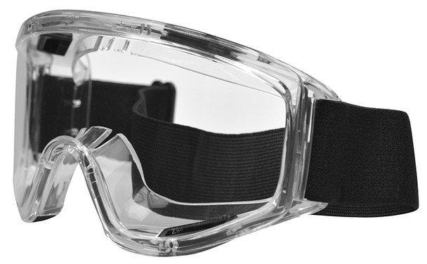 Haber Liquidator Splash Goggle with Clear Single Lens (Without Eliminator Holes) HS-12152