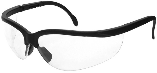 Radians Journey Safety Glasses with Black Frame and Clear Lens