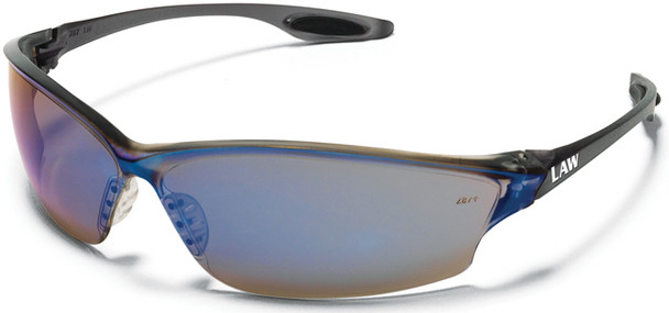Crews Law 2 Safety Glasses with Blue Mirror Lens