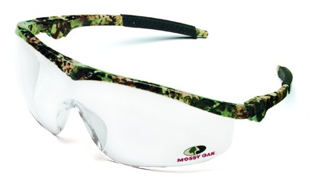 Crews Storm Safety Glasses with Mossy Oak Frame and Clear Lens MO110