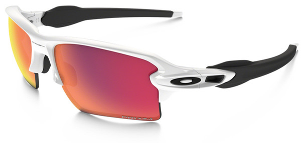 Oakley Flak Jacket 2.0 XL Sunglasses with Polished White Frame and Prizm Baseball Outfield Lens