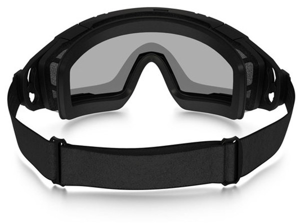 Oakley SI Ballistic Goggle 2.0 with Black Frame and Clear Lens - Back