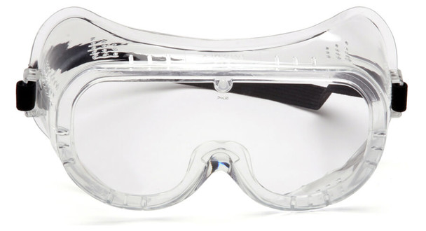 Pyramex G201 Perforated Goggle with Clear Lens - Front