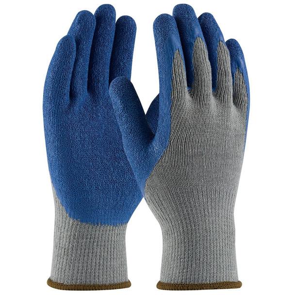 PIP 39-C1305 G-Tek Seamless Knit Cotton/Polyester Gloves - Latex Coated Crinkle Grip on Palm & Fingers - Regular Grade