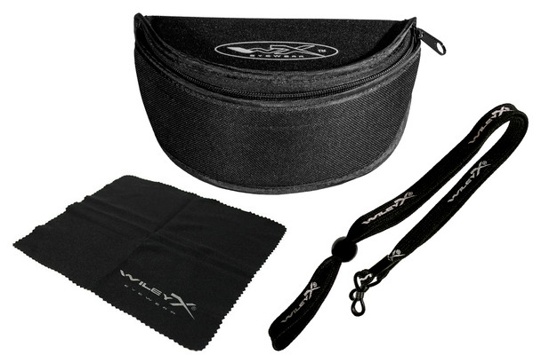 Accessories included with Wiley X PT-1 Ballistic Sunglasses