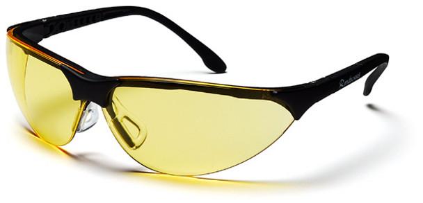 Pyramex Rendezvous Safety Glasses Black Frame Amber Lens SB2830S