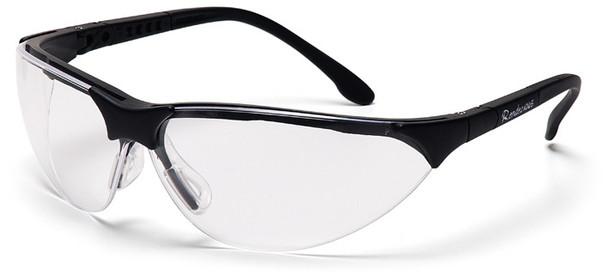 Pyramex Rendezvous Safety Glasses Black Frame Clear Lens SB2810S