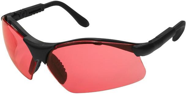 Radians Revelation Safety Glasses with Black Frame and Vermillion Lens