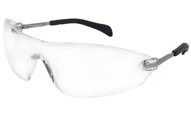 Crews Blackjack Elite Safety Glasses with Clear Anti-Fog Lens S2210AF