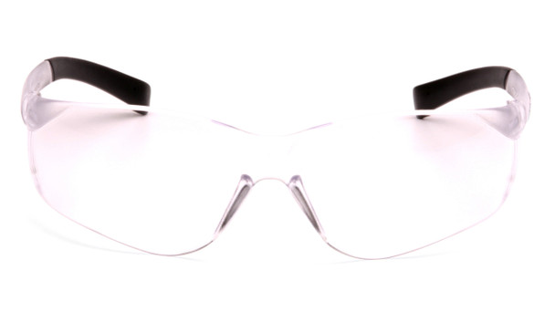 Pyramex Ztek Safety Glasses with Clear Anti-Fog Lens Front View
