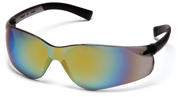 Pyramex Ztek Safety Glasses with Gold Mirror Lens S2590S