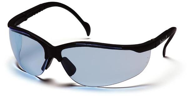 Pyramex Venture 2 Safety Glasses Black Frame Infinity Blue Lens SB1860S