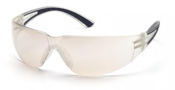 Pyramex Cortez Safety Glasses Black Temples Indoor/Outdoor Lens SB3680S