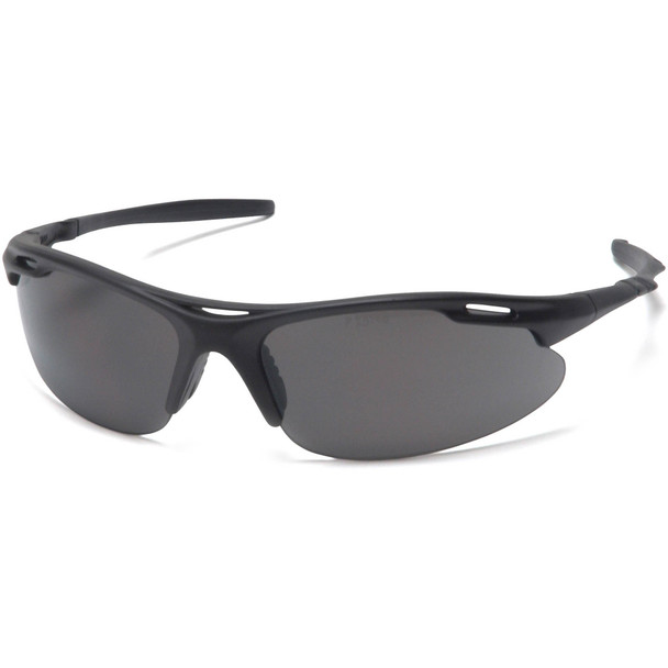 Pyramex Avante Safety Glasses with Black Frame and Gray Lens SB4520D