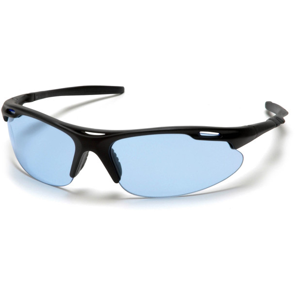 Pyramex Avante Safety Glasses with Black Frame and Infinity Blue Lens SB4560D
