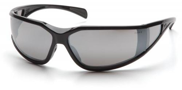 Pyramex Exeter Safety Glasses with Black Frame and Silver Mirror Anti-Fog Lens SB5170DT